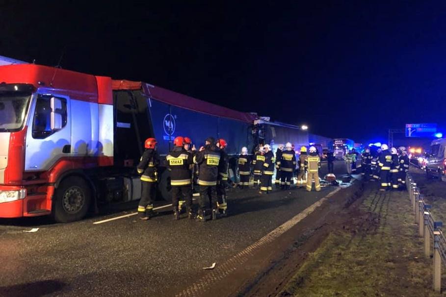 24-02-2020_ wypadek autostrada A1_ Jacek Hejnowicz