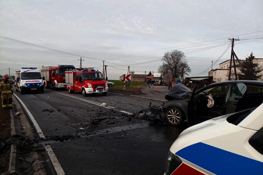 29-02-2020_ wypadek DK15 Pląchoty_ Ratownictwo Medyczne Powiatu Golubsko-Dobrzyńskiego-4