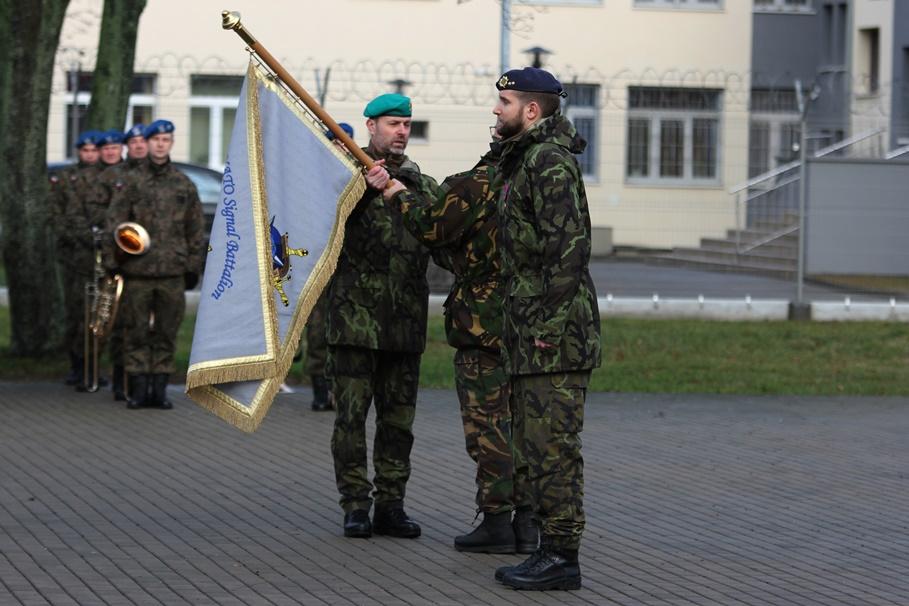 3 Batalion Łączności NATO Bydgoszcz - zmiana dowódcy - SF-9