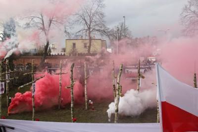 1-03-2020_ Narodowy Dzień Pamięci Żołnierzy Wyklętych_ uroczystości Bydgoszcz, cmentarz - ul. Kcyńska - SF (19)