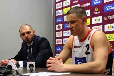 1-03-2020_ koszykówka, Energa Basket Liga_ Enea Astoria Bydgoszcz - HydroTruck Radom_ Artur Gronek, Mateusz Zębski - SF