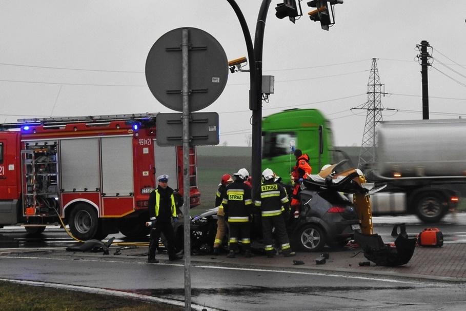 12-03-2020_ wypadek DK10 Nakło nad Notecią - ZK
