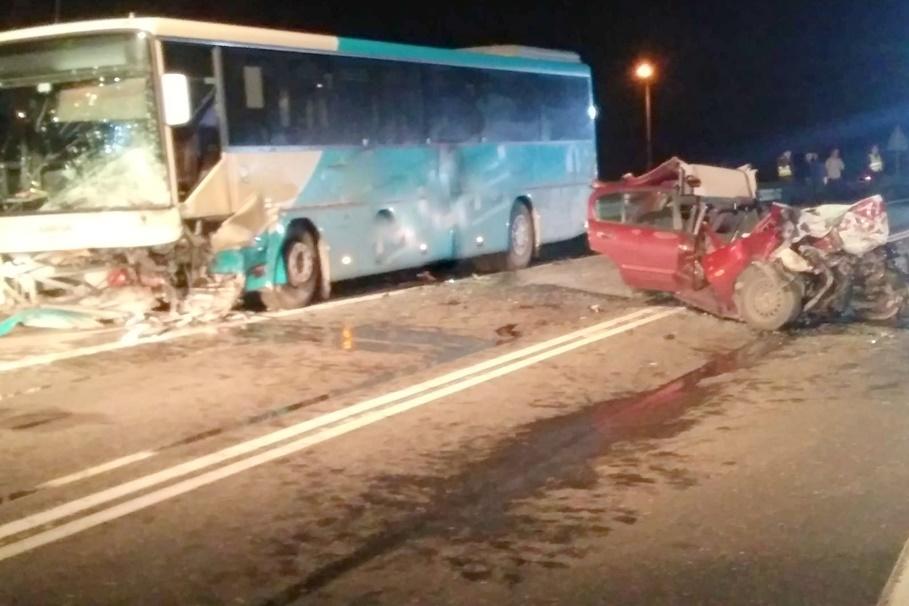 12-03-2020_ wypadek DK91 Chełmno_ KPP Chełmno-1