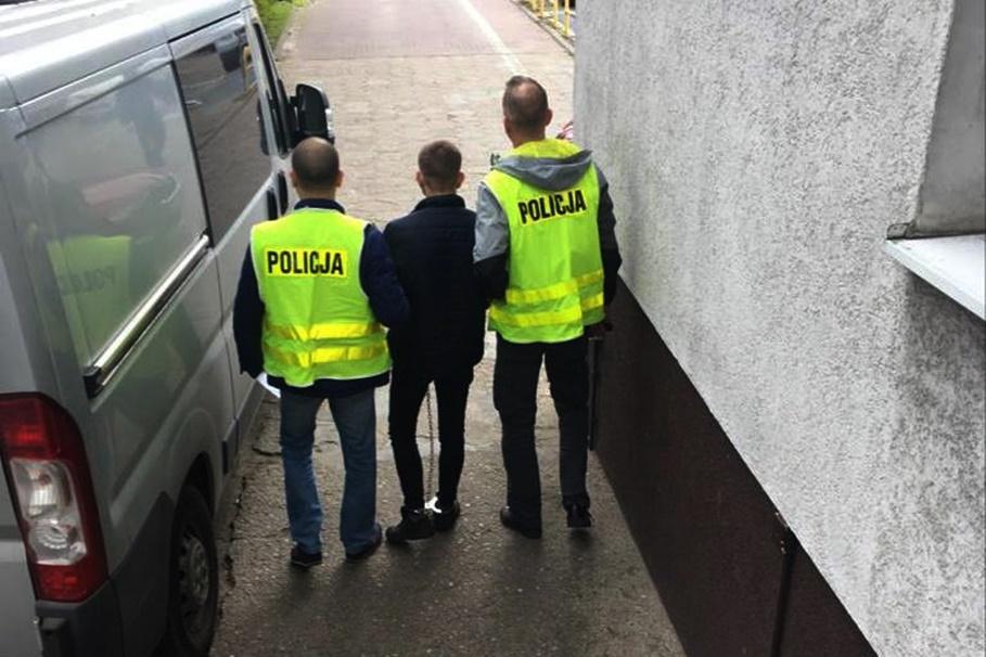 zatrzymany_rozbój Szwederowo_KWP Bydgoszcz