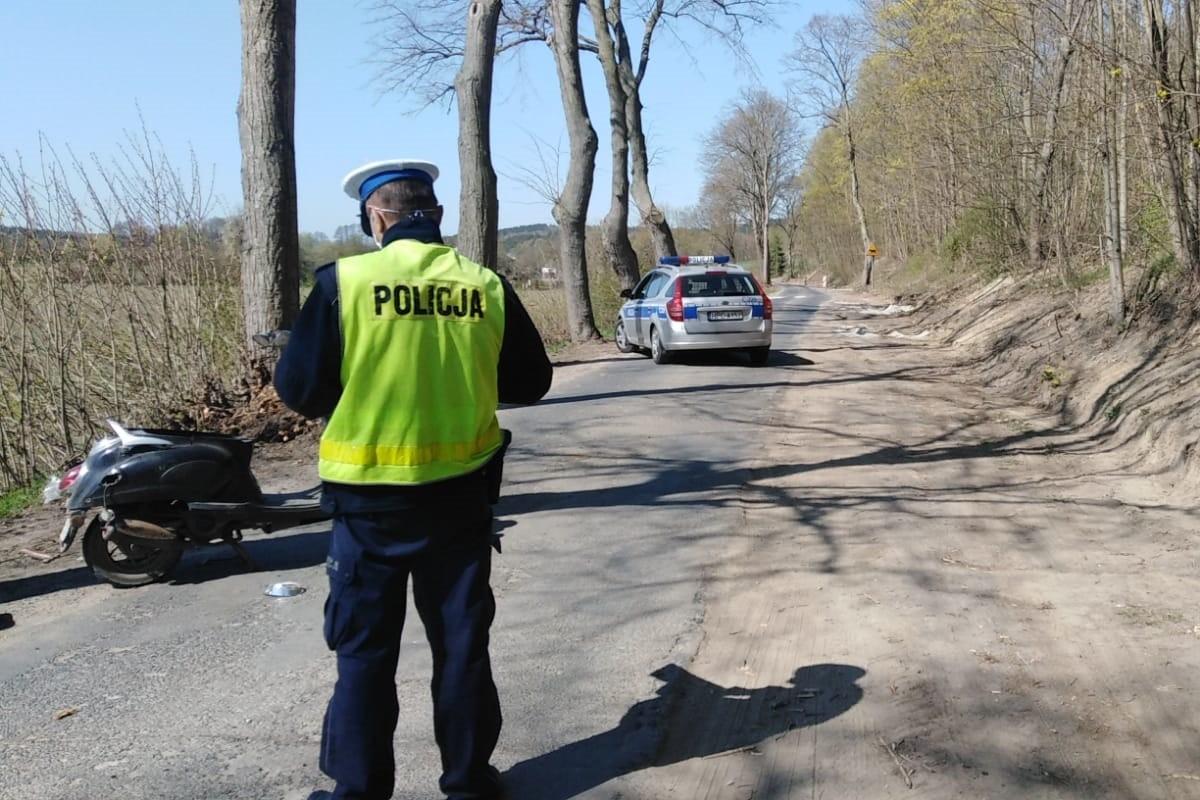 20-04-2020_ wypadek DW546 Skłudzewo - KMP Toruń