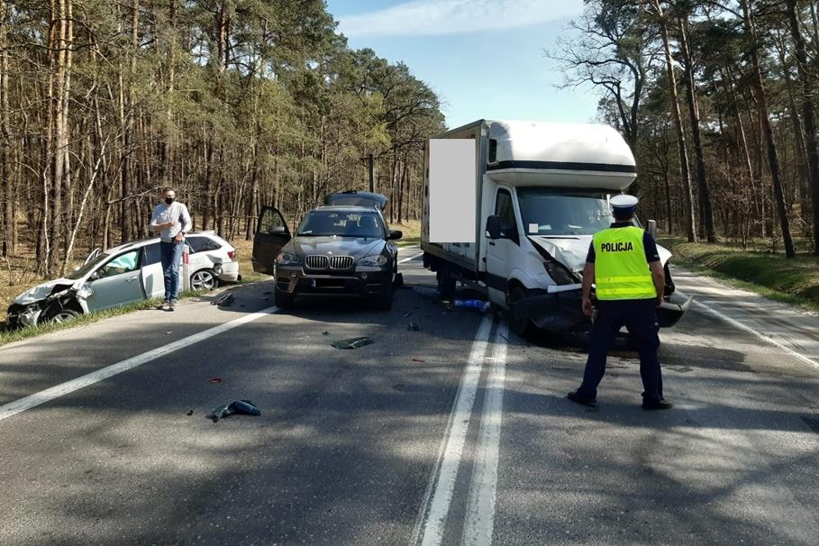 23-04-2020_ wypadek DK80 Pędzewo - KMP Toruń