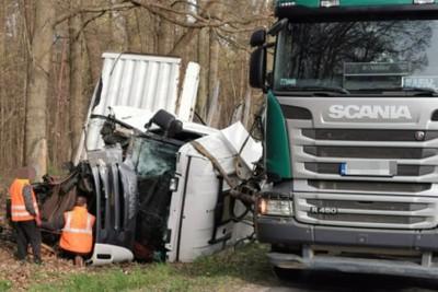 24-04-2020_ wypadek DW543 Wichulec pow. brodnicki - KPP Brodnica