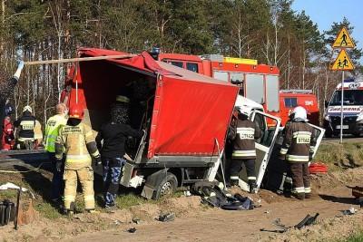 6-04-2020_ wypadek Droga Powiatowa 1926C Gorzeń - ZK-1