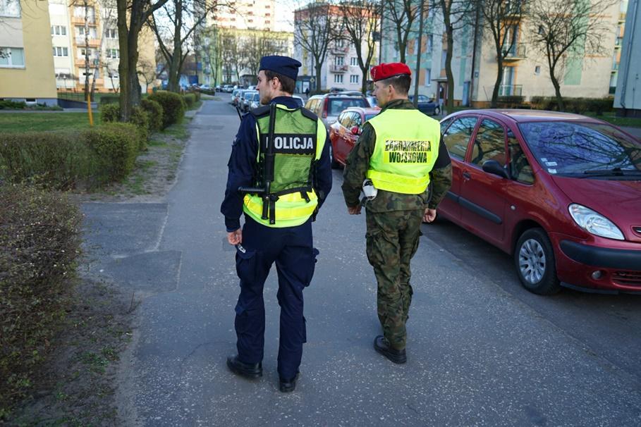 koronawirus_patrol_policja, Żandarmeria Wojskowa - KWP Bydgoszcz (2)