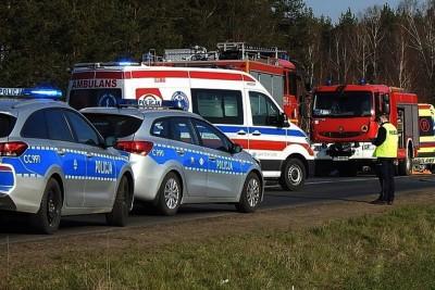 policja, ambulans, straż pożarna - na sygnale - ZK