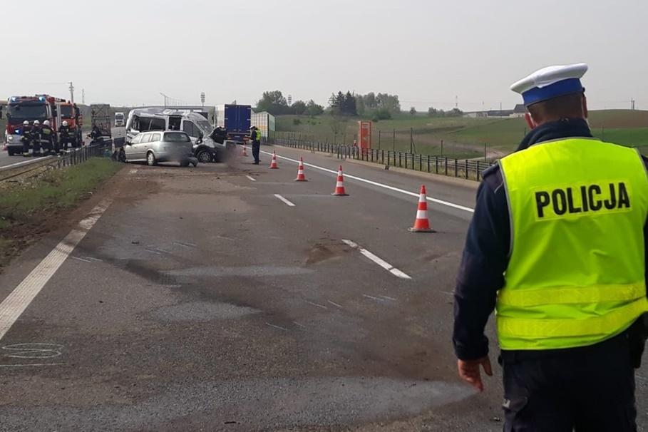 11-05-2020_ wypadek autostrada A1 Gorzuchowo - KPP Chełmno (5)