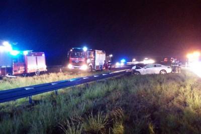 11-05-2020_ wypadek autostrada A1 Kujawsko-Pomorskie_ Dziankowo - OSP Lubień Kujawski