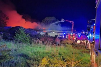16-05-2020_ pożar budynku Balice - OSP Strzelno