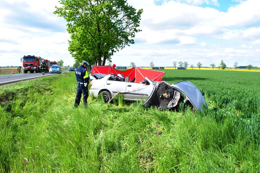18-05-2020_ wypadek DK15 Busewo - KPP Mogilno