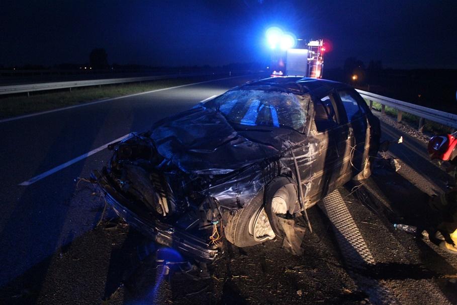 18-05-2020_ wypadek autostrada A1 Nowa Wieś - KMP Włocławek
