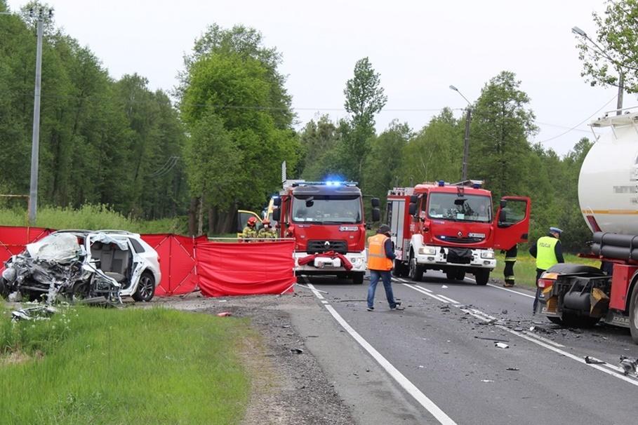 19-05-2020_ wypadek DK62 Wistka Królewska pow. włocławski - KMP Włocławek (3)