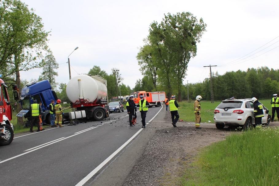 19-05-2020_ wypadek DK62 Wistka Królewska pow. włocławski - KMP Włocławek (4)