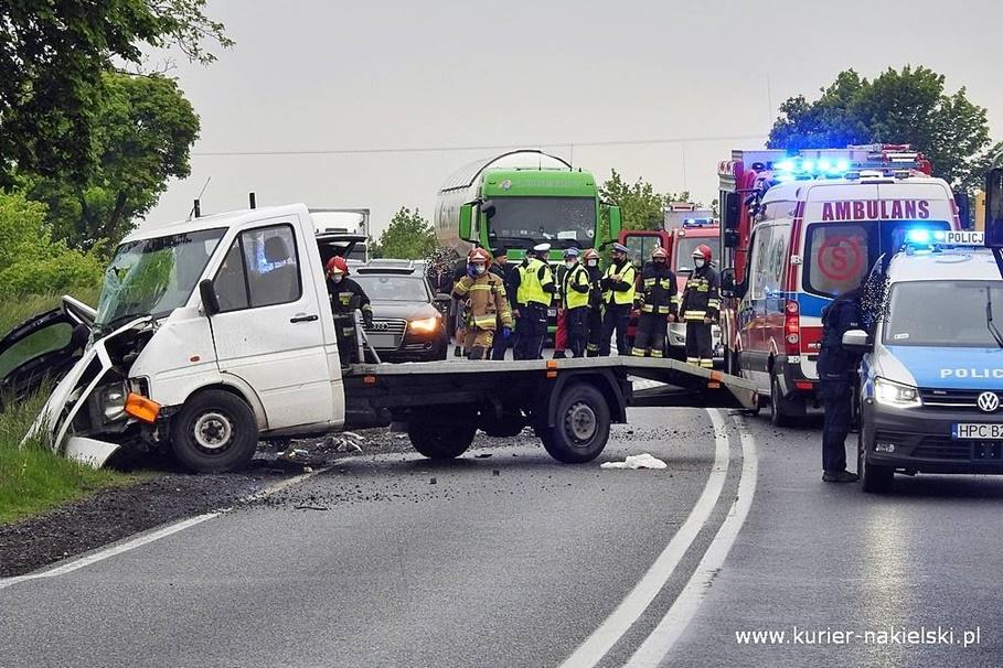 23-05-2020_ wypadek DK10 Trzeciewnica - ZK