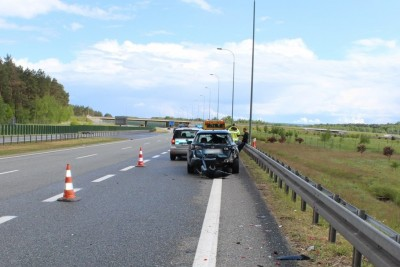 26-05-2020_ wypadek-autostrada A1-Nowe Marzy_KPP Świecie