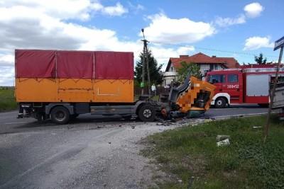 29-05-2020_ wypadek DK56 Stronno - OSP Dobrcz-2
