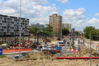 30-05-2020_ budowa linii tramwajowej_ Kujawska, rondo Bernardyńskie Bydgoszcz - JS (46)