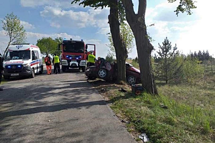 8-05-2020_ wypadek Górzno-wybudowania - KPP Brodnica