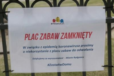 Koronawirus_Tabliczka_Bydgoszcz_Zamknięty Plac Zabaw - SF