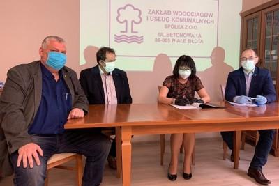 podpisanie umowy ZWiUK - UG Białe Błota