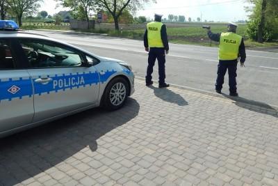 policja_na sygnale_Kaskadowy Pomiar Prędkości - KPP Radziejów
