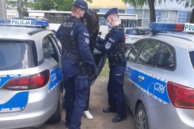 zatrzymanie_zniszczenie elewacji_KMP Toruń