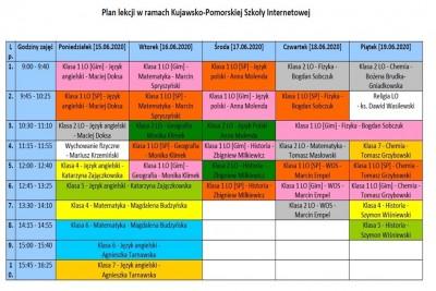 15-19.06.2020_ Kujawsko-Pomorska e-szkoła, plan lekcji