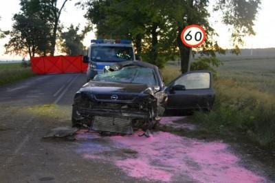 16-06-2020_ wypadek DW266 Czołówek - KPP Radziejów-2