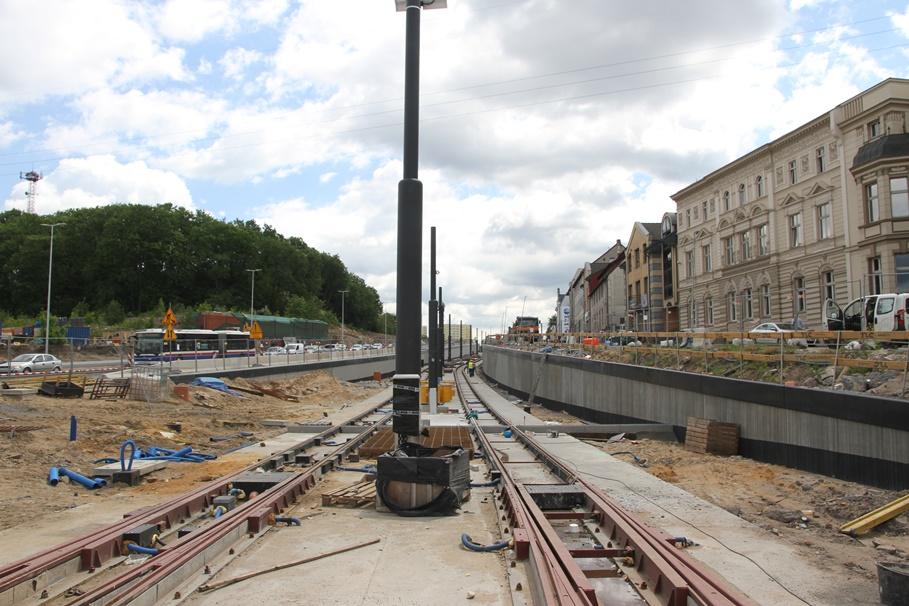 2-06-2020_ budowa linii tramwajowej Bydgoszcz_ rondo Bernardyńskie, Bernardyńska - SF (25)