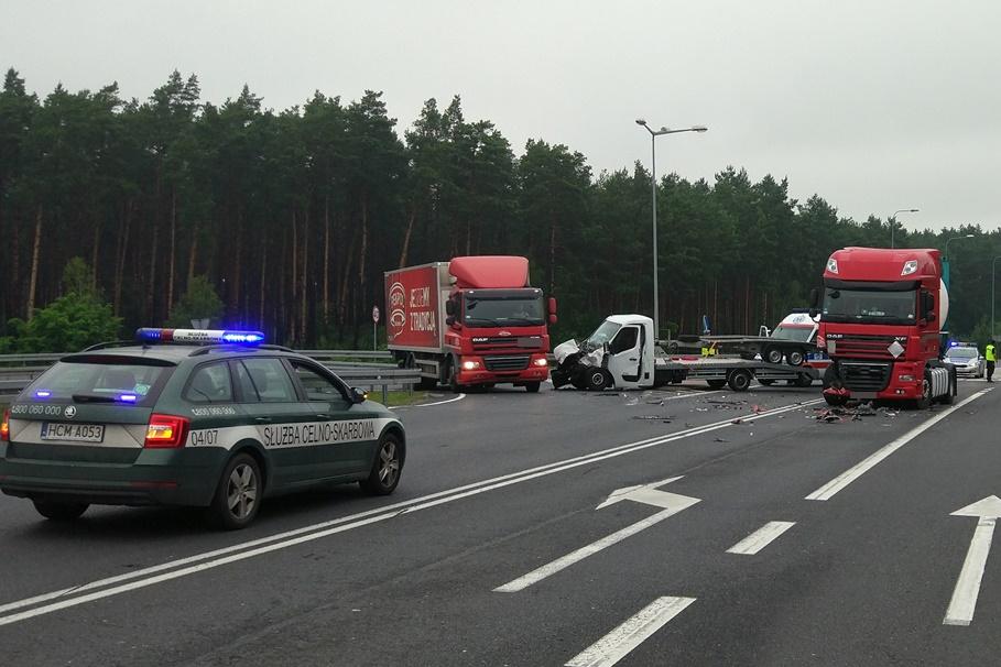 22-06-2020_ wypadek DK15,S10_ Mała Nieszawka - KMP Toruń