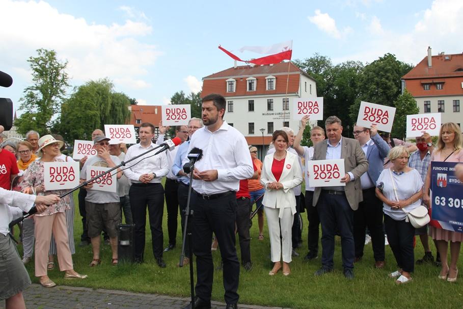 26-06-2020_ konferencja PiS Bydgoszcz_Wyspa Młyńska_Kampania wyborcza_wybory prezydenckie 2020 - SF