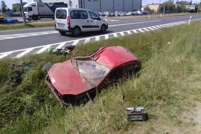 4-06-2020_ wypadek DK10 Czernikowo - KMP Toruń-1