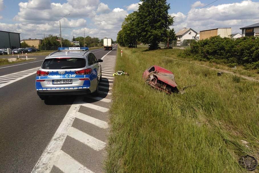 4-06-2020_ wypadek DK10 Czernikowo - KMP Toruń