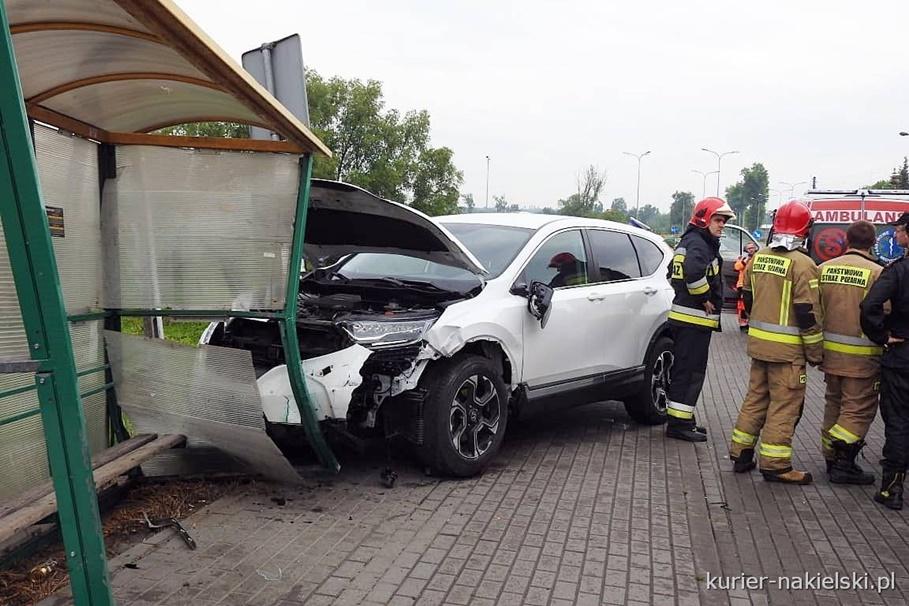 5-06-2020_ wypadek Nakło nad Notecią, ul. Poznańska - ZK
