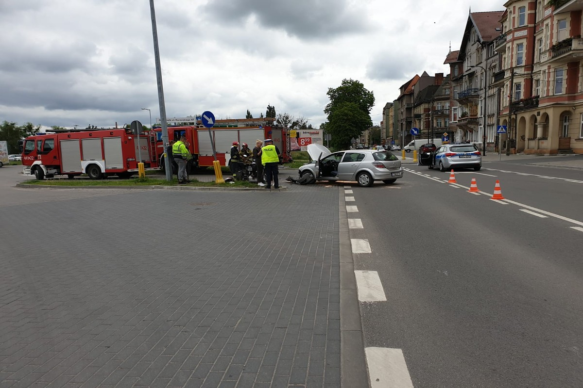 9-06-2020_ wypadek, Rapackiego Grudziądz - KMP Grudziądz