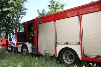 Ambulans, Straż Pożarna - wypadek - na sygnale - SF