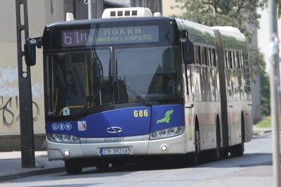 Autobus - linia 61M, kierunek Mokra, przez Garbary, Kapuściska - SF