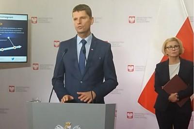 Dariusz Piontkowski, Marzena Machałek - men.gov.pl, konferencja prasowa
