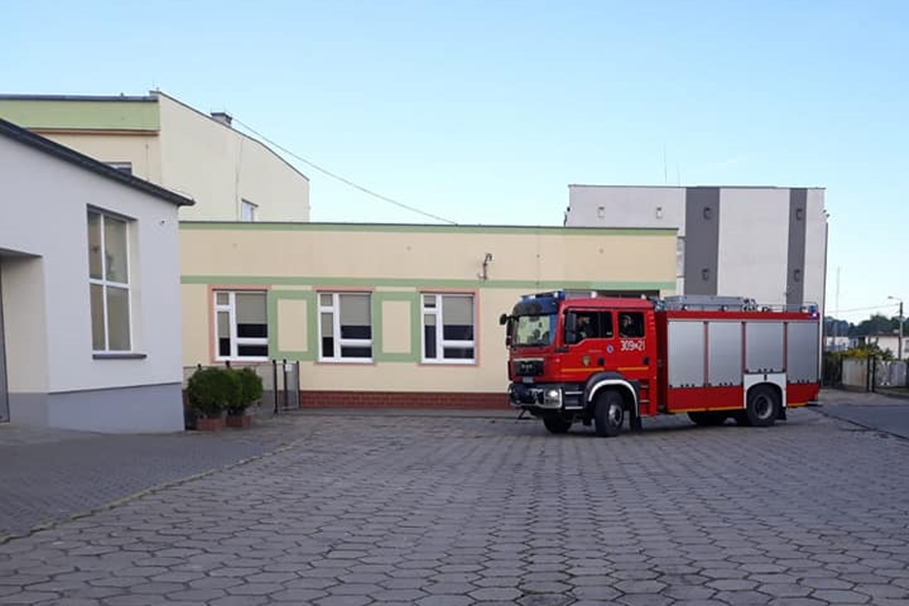 alarm bombowy, szkola - osp ksrg koronowo