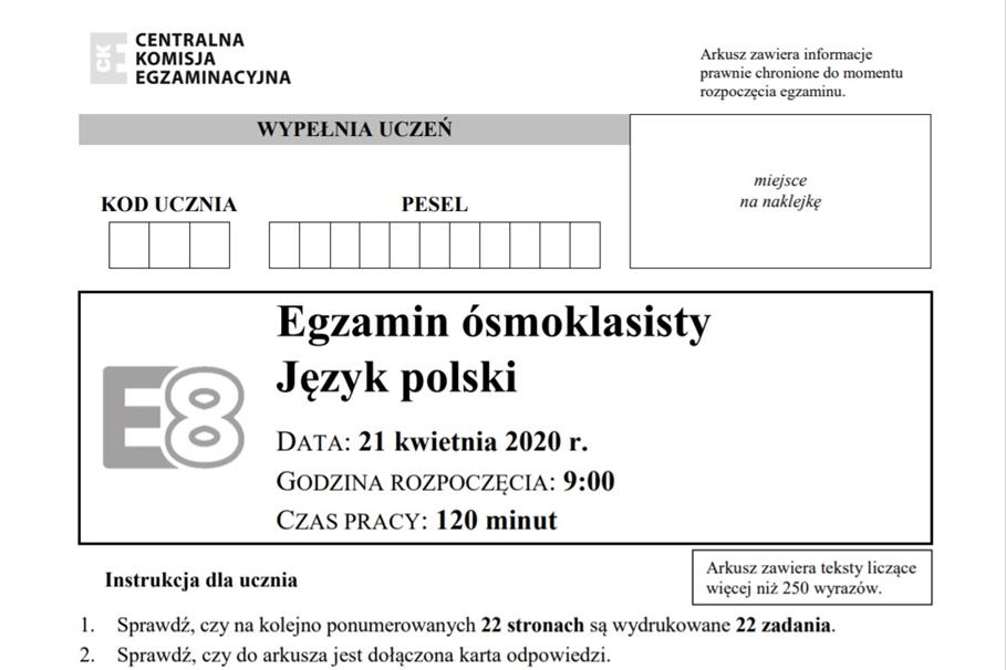 egzamin osmoklasisty j polski
