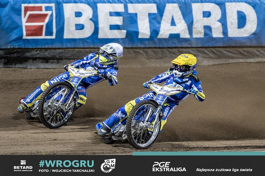 10-07-2020_żużel, PGE Ekstraliga_ Betard Sparta Wrocław - MRGarden GKM Grudziądz_ Nicki Pedersen, Kenneth Bjerre - fot. Wojciech Tarchalski-1