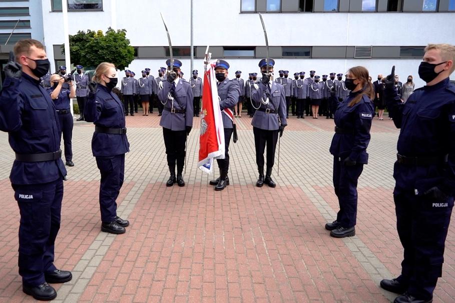 24-07-2020_ślubowanie nowych policjantów_KWP Bydgoszcz (3)