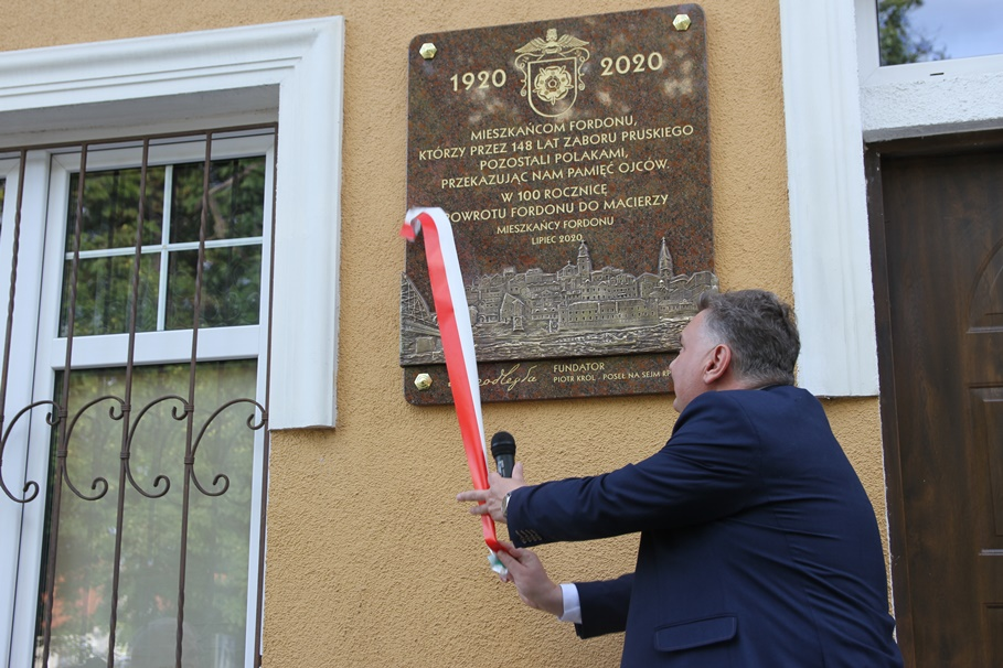 30-07-2020_ odsłonięcie pamiątkowej tablicy_ Stary Fordon Bydgoszcz - Piotr Król - SF