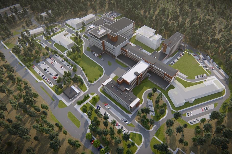 Szpital Włocławek - wizualizacje, rozbudowa (6)