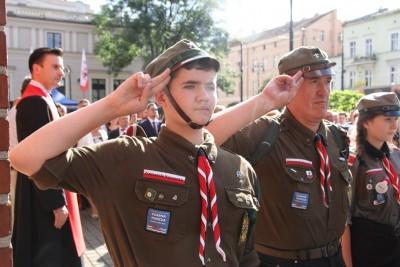 1-08-2020_ Bydgoszcz_ 76 rocznica wybuchu Powstania Warszawskiego_obchody_plac Wolności_środowiska Narodowe - SF (25)