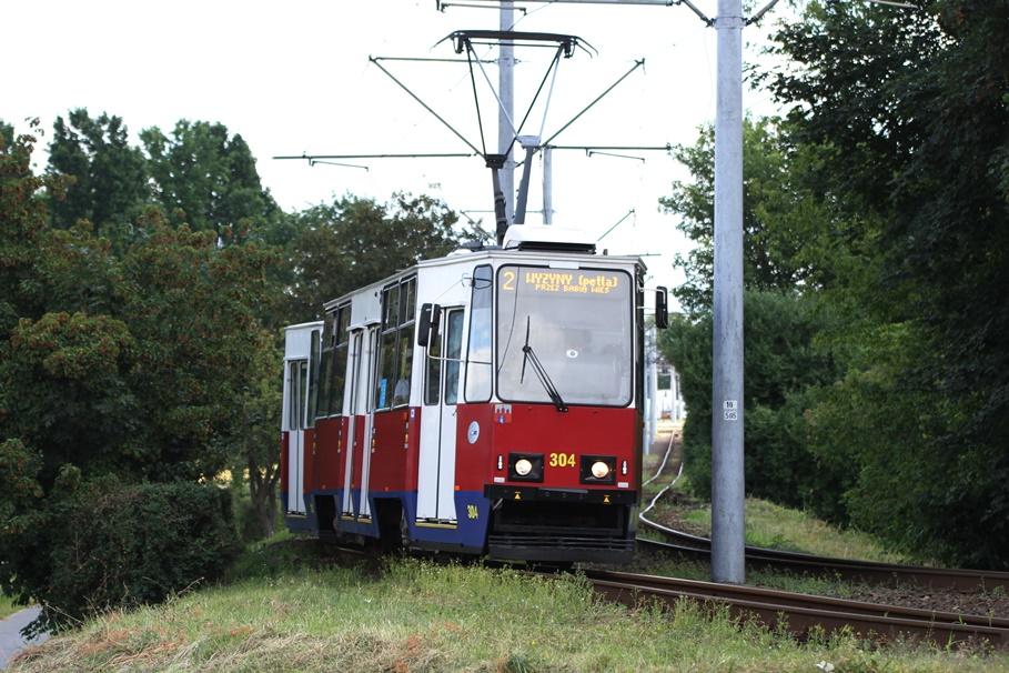 Tramwaj - linia 2, kierunek Wyżyny_ pętla Toruńska-Hala - SF